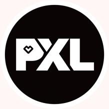 Sticker PXL 9 cm 100 stuks